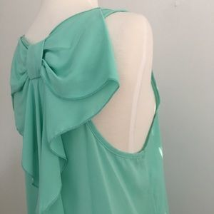 Francesca's Collections Tops - Francesca's Collections green sleeveless tank L